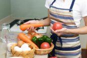 新鮮な野菜と卵