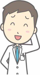 照れる男性医師のイラスト
