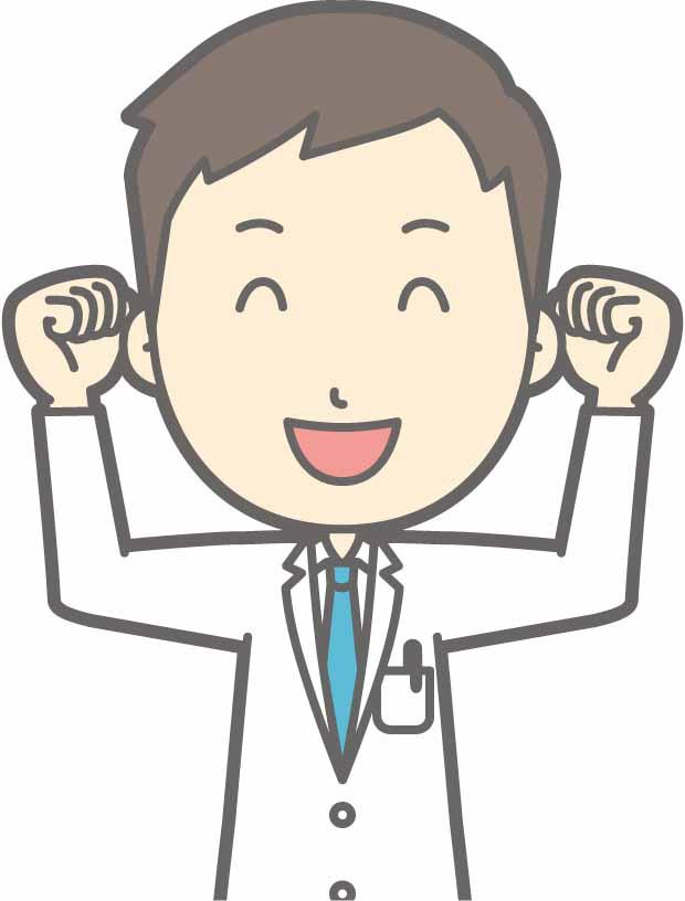 やる気に満ち溢れる男性医師