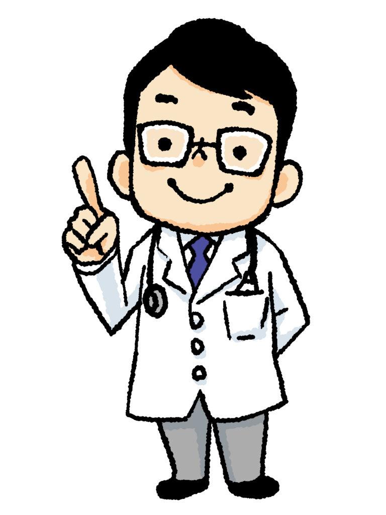 男性医師のイラスト画像