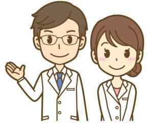 男性医師と看護師のイラスト