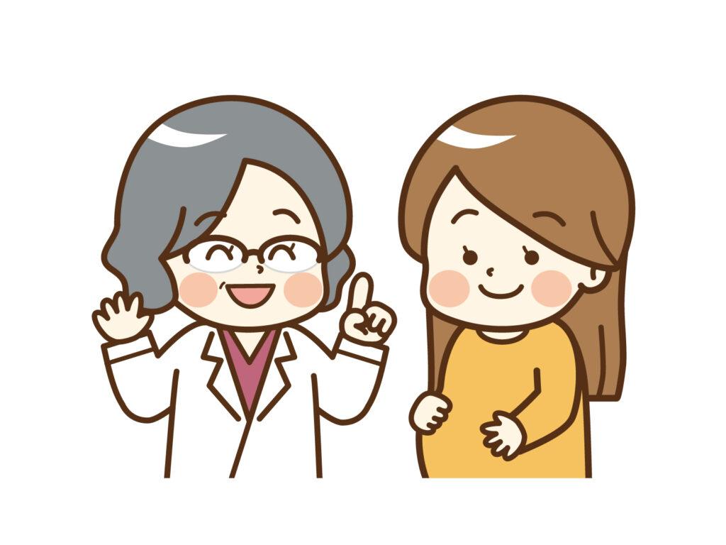 女性医師と女性のイラスト